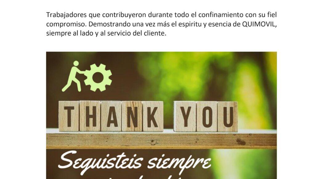 Agradecimiento equipo covid